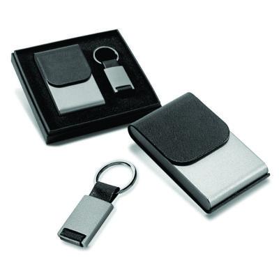 link-promocional - Kit porta cartões e chaveiro.
