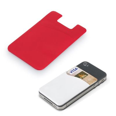 Link Promocional - Porta cartões para smartphone. PVC com autocolante