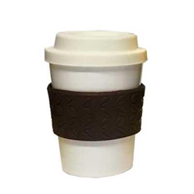 Abrindes - Copo 300ml com tampa e luva grão de café