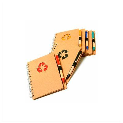 no-ato-brindes - Bloco de anotações personalizado com 80 folhas e caneta.