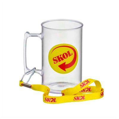 No Ato Brindes - Caneca de chopp personalizada com capacidade de 500 ml.