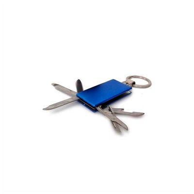 No Ato Brindes - Chaveiro de Metal Personalizado, 05 Funções: 01 Abridor, 01 mini Régua, 01 Lâmina Faca, 01 Lixa e 01 Tesoura