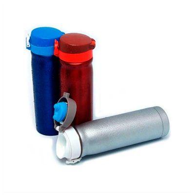 No Ato Brindes - Squeeze térmico personalizado de inox com capacidade para 500ml.