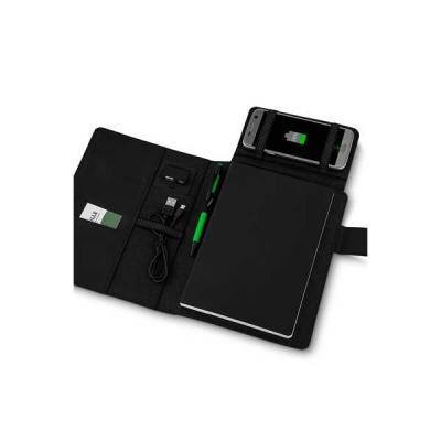no-ato-brindes - Capa para Caderno com Powerbank Personalizada