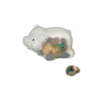 no-ato-brindes - Cofre Porquinho Plástico Personalizado