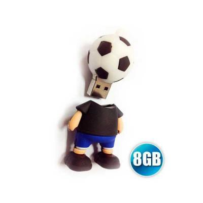 No Ato Brindes - Pen drive 3D 8GB Customizado em Borracha
