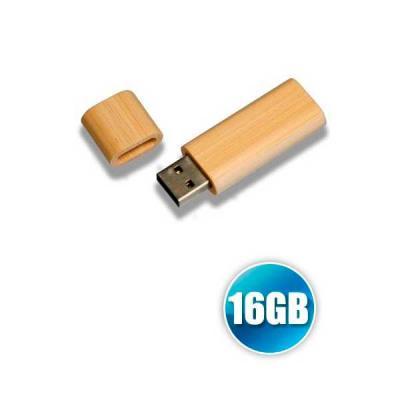 no-ato-brindes - Pen drive 16GB de Bambu