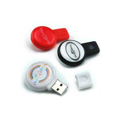 No Ato Brindes - Pen Drive 4GB Redondo Personalizado