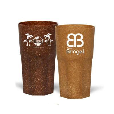 Direct Brindes Personalizados - Copo Roma personalizado com capacidade para 380ml. Copo sustentável feito com 50% de fibra de madeira de reflorestamento ou de coco e 50% de PP, reduz...