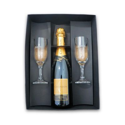Direct Brindes Personalizados - Kit chandon com 2 taças gallant