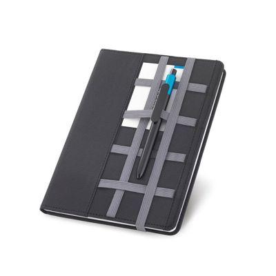 Direct Brindes Personalizados - Caderno em couro sintético com 80 folhas