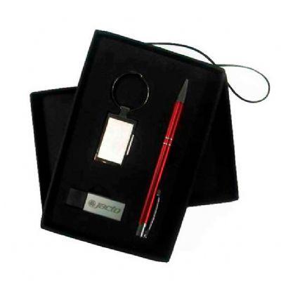 Direct Brindes Personalizados - Kit escritório com caneta chaveiro e pen drive