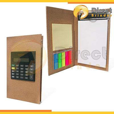 Direct Brindes Personalizados - Bloco de anotações ecológico com calculadora e rascunho auto colante.