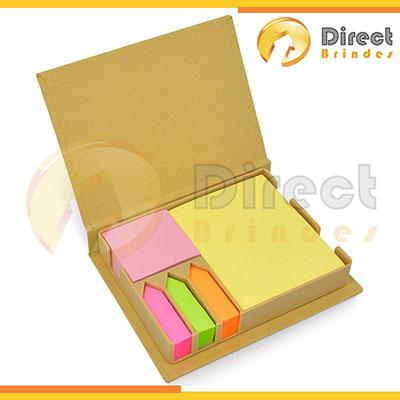 Direct Brindes Personalizados - Bloco de anotações corporativo com sticky note.