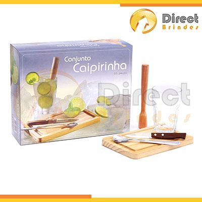 Direct Brindes Personalizados - Kit Caipirinha personalizado em madeira com 5 peças