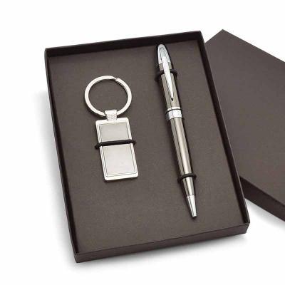 Direct Brindes Personalizados - Kit Especial Chaveiro e Caneta de Metal Personalizado