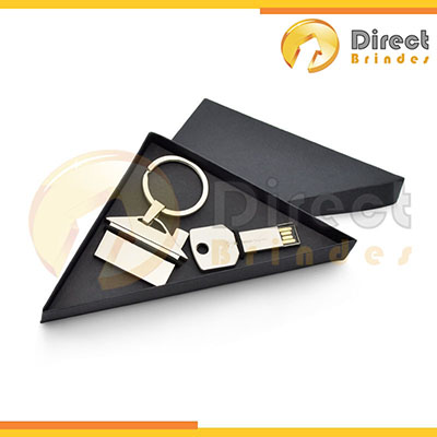 Direct Brindes Personalizados - Conjunto pen drive e com chaveiro metal personalizados.