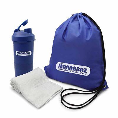 Direct Brindes Personalizados - Kit Fitness 3 peças com Coqueteleira Personalizado
