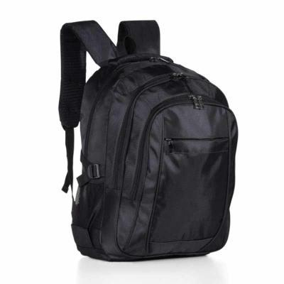 Direct Brindes Personalizados - Mochila de nylon com compartimento para notebook. Compartimento grande com bolso interno para notebook 15.6 polegadas, dois compartimentos medianos, c...