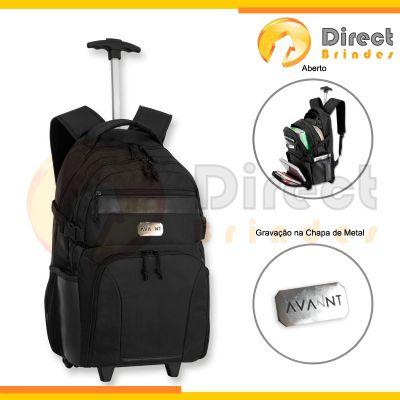 Direct Brindes Personalizados - Mochila com carrinho, porta note e bolso frontal.