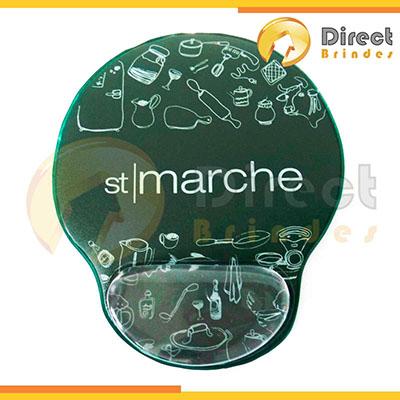 Direct Brindes Personalizados - Mouse pad com apoio de gel, com personalização