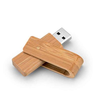 Direct Brindes Personalizados - Pen Drive Bambu Giratório 8GB Personalizado