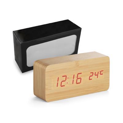 Direct Brindes Personalizados - Relógio MDF com Calendário e Alarme 1