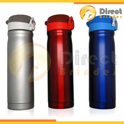 Direct Brindes Personalizados - Squeeze em alumínio capacidade 500 ml, tampa plástica retrátil