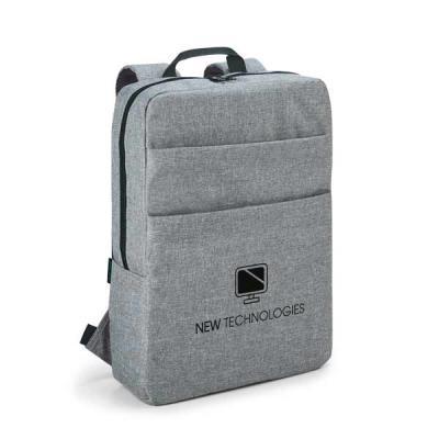 UP Couro - Mochila para notebook. 600D de alta densidade. Compartimento com divisória almofadada para notebook até 15.6''. Interior forrado e almofadado. Com 2 b...