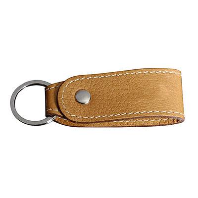 UP Couro - Chaveiro personalizado, pespontado, confeccionado em couro com argola