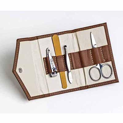 UP Couro - Kit Manicure personalizado em couro ou sintético, medida: 11 x 7 cm