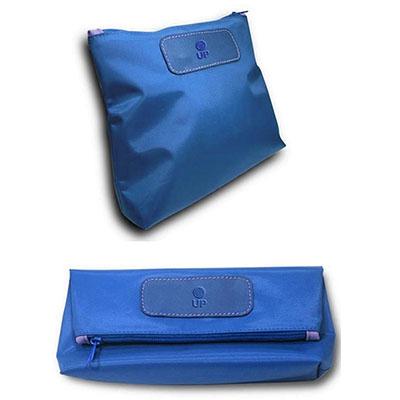UP Couro - Nécessaire dobrável, confeccionada em couro ou sintético, com nylon, medida 26,5 x 11 cm