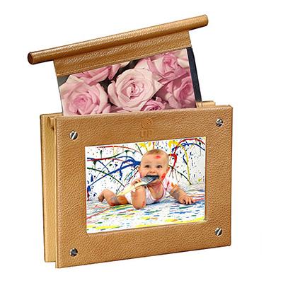 UP Couro - Porta retrato personalizado, confeccionado em couro ou sintético. Medidas 15x 20 cm