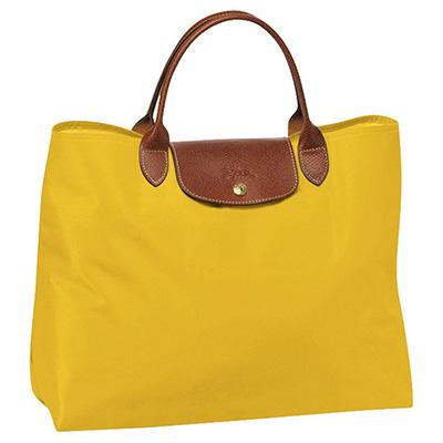 UP Couro - Sacola feminina, confeccionada em nylon com detalhes em couro ou sintético