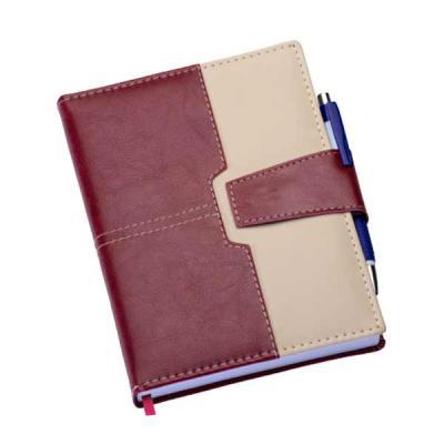 Canarinho Brindes - Agenda diária 2019 de couro sintético com fecho de imã e suporte para caneta. Contém fita de cetim marca página, dados pessoais, calendário de 2018 à...