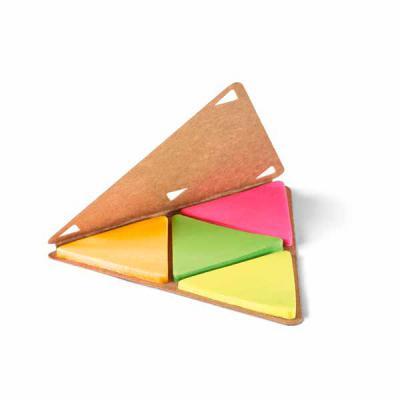 Canarinho Brindes - Bloco de anotações Personalizado Formato triangulo