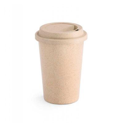 Canarinho Brindes - Copo para viagem ecologico personalizado. Fibra de bambu e PP. Com tampa.  Capacidade até 450 ml. Food grade. ø93 x 134 mm