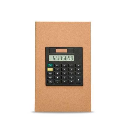 canarinho-brindes - Bloco de anotações com calculadora, sticky notes (20 folhas) e marcadores de páginas (azul, verde, amarelo esverdeado, rosa e laranja aproximadamente...
