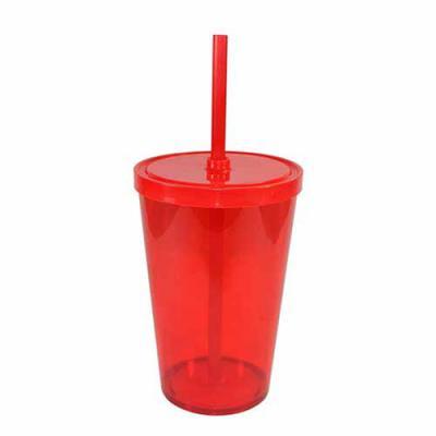 canarinho-brindes - Copo plástico com Canudo Personalizado