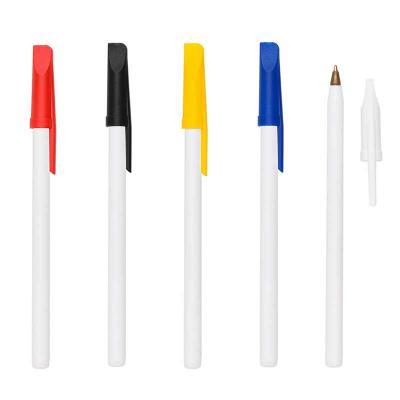 Canarinho Brindes - Caneta Plástica Personalizada Caneta plástica leitosa inteira colorida com tampa.  Medidas aproximadas para gravação (CxL):  10,8 cm x 0,5 cm Tamanho...
