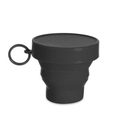Canarinho Brindes - Copo retrátil Personalizado 150ml de borracha termoplástica, possui tampa de encaixe com argola plástica.  Altura: 7,2 cm  Largura :  9 cm  Circunferê...