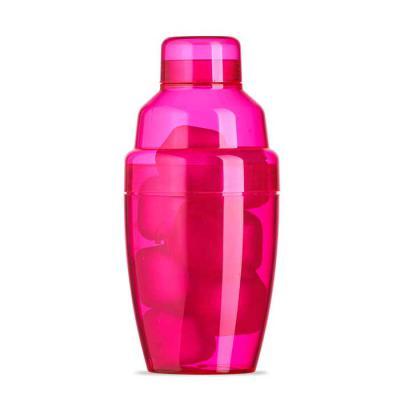 canarinho-brindes - Coqueteleira plástica 230ml com gelo ecológico. Material colorido translúcido, possui tampa de encaixe com peneira e tampa protetora para bocal da pen...