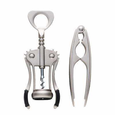 Canarinho Brindes - Kit Personalizado com Abridor de vinho em metal e quebra nozes em estojo plástico de tampa acrílica. Abridor e quebra nozes em metal fosco com detalhe...