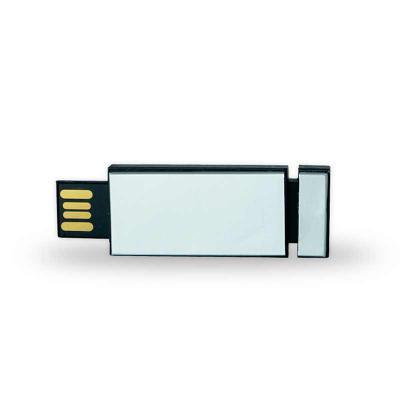 Canarinho Brindes - Pen drive plástico Personalizado de 4GB retrátil de clique.  Medidas aproximadas para gravação (CxL):  1,6 cm x 3,6 cm  Tamanho total aproximado  (CxL...