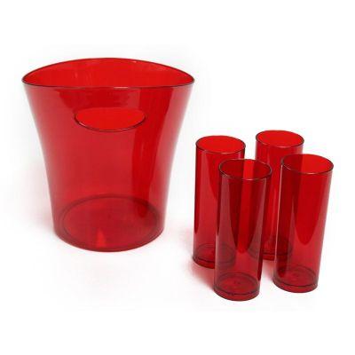 Canarinho Brindes - Kit de balde de gelo personalizado