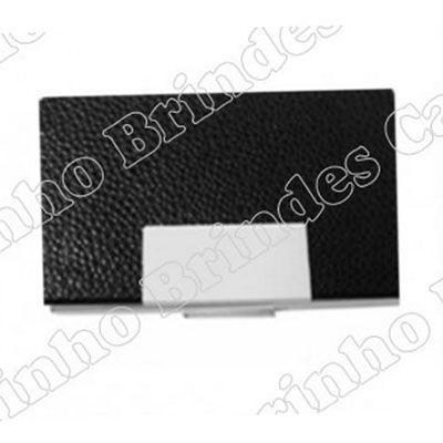 canarinho-brindes - Porta cartão em couro personalizado.