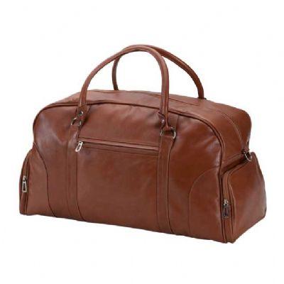Alvo Couros - Bolsa de viagem com 2 bolsos laterais e um bolso frontal.