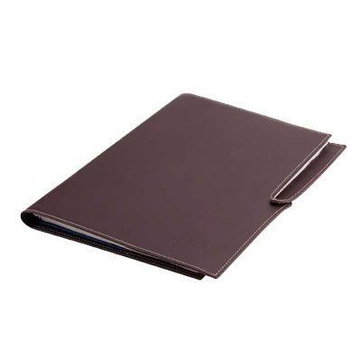Alvo Couros - Caderno com miolo de 100 folhas e porta caneta