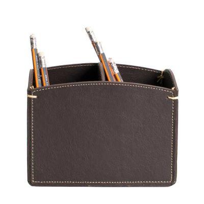 alvo-couro - Porta canetas de mesa