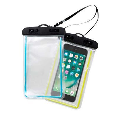 BrinClass - Capa impermeável transparente Personalizada para celular. Possui contorno colorido na capa, suporte plástico superior com fivelas rotatórias(basta rot...